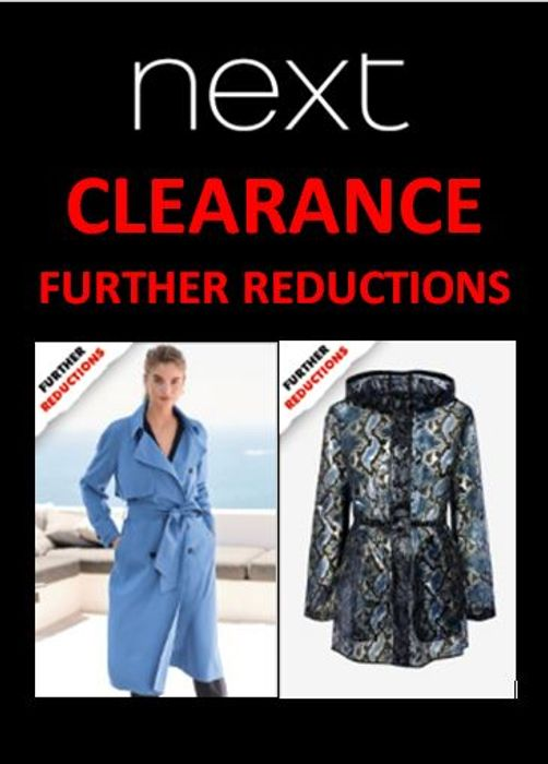 NEXT Clearance - FURTHER REDUCTIONS - up to 80% OFF