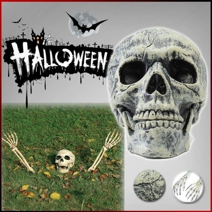 3 PCS of Halloween Horror Skeleton Skull Hand Family Garden Yard Lawn Decoration
