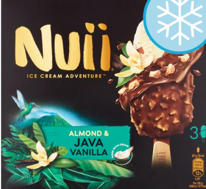 Nuii Almond & Java Vanilla Ice Cream Sticks 3 X 90ml
