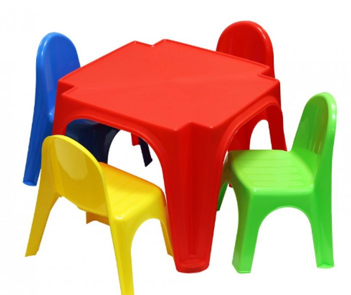 Childrens Plastic Table and 4 Chairs Set Only £14.99