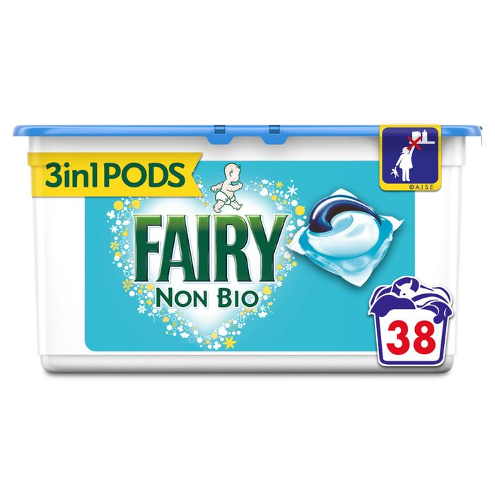 Fairy Non Bio. Pods Washing Capsules 38 Washes
