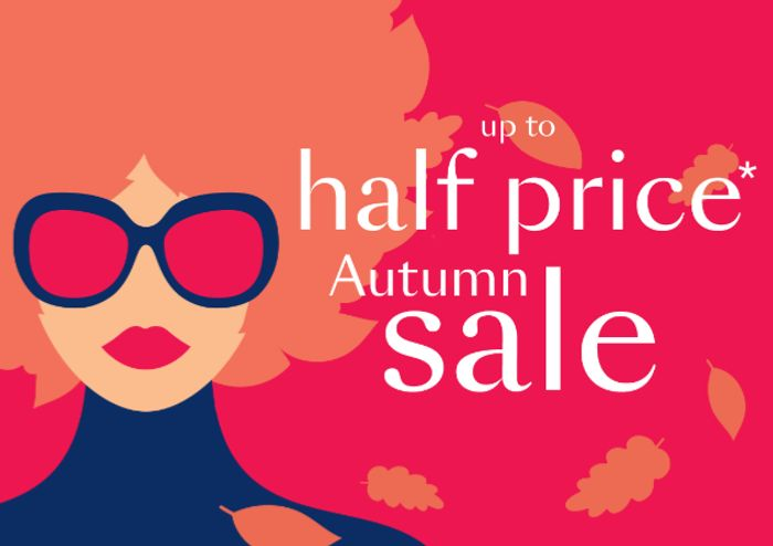 Debenhams Up To Half Price Autumn Sale.