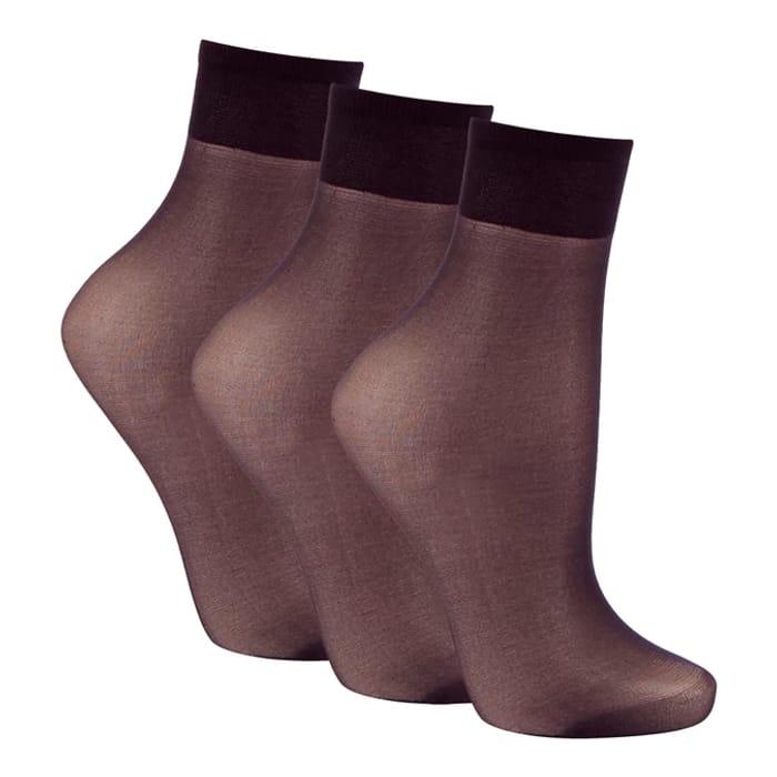 Debenhams 3 Pack Black Matte Ankle Highs - save £3.62