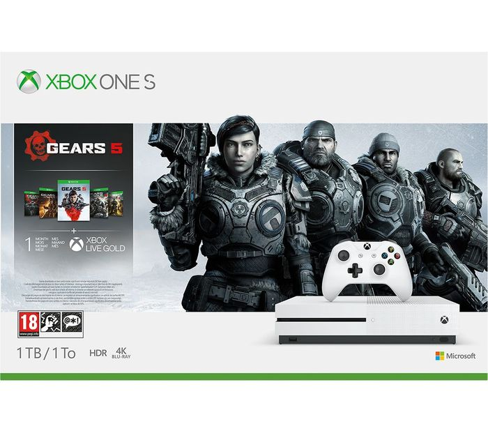 MICROSOFT Xbox One S with Gears 5 Bundle - 1 TB Only £199