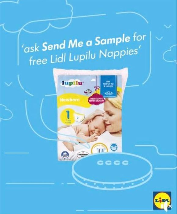 Free Sample of Lidl Lupilu Newborn Nappies