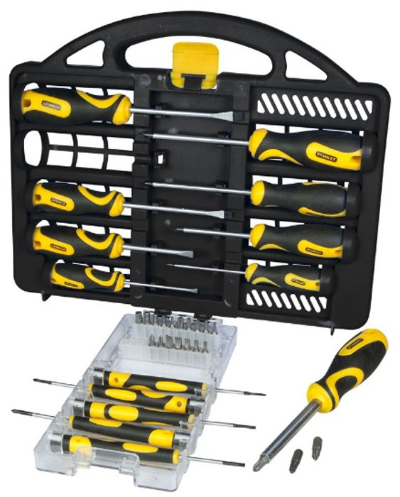 Cheap Stanley 34-Piece Screwdriver Set with Carry Case, reduced by £10!