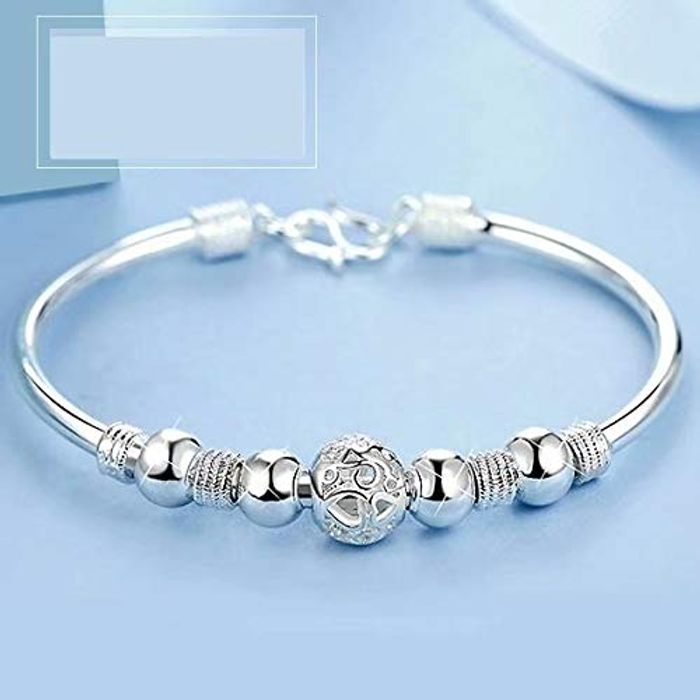 Classic Fashion Jewelry Solid Silver Buckle Bracelet - Only £1.08!