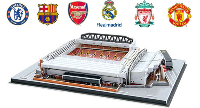 3D Football Stadium Jigsaw Puzzle - 6 Models with 75% Discount - Great buy!