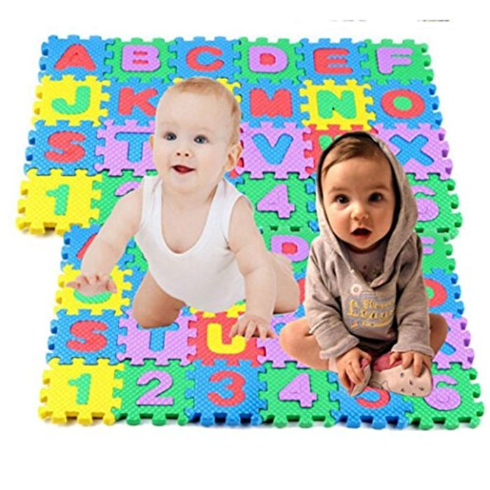 36PCS Baby Kids Alphanumeric Educational Puzzle Foam Mats Blocks Toy Gift
