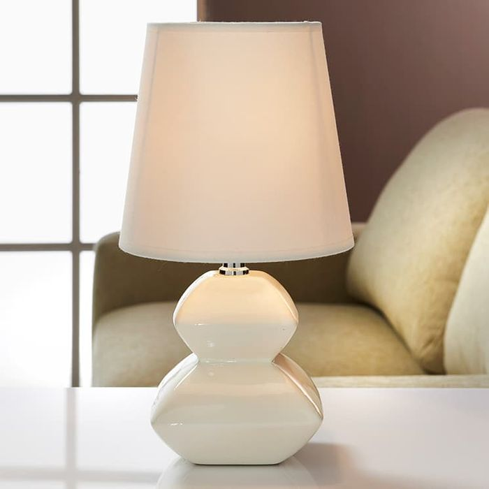 Pagoda Pebble Table Lamp - Cream