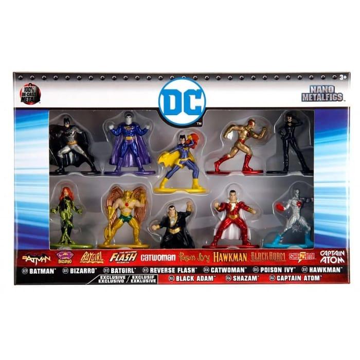 Dc Nano Metalfigs 10pk Superhero Figures