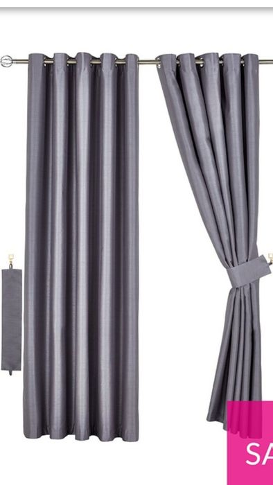 Faux Silk Blackout/thermal Curtains and Ties