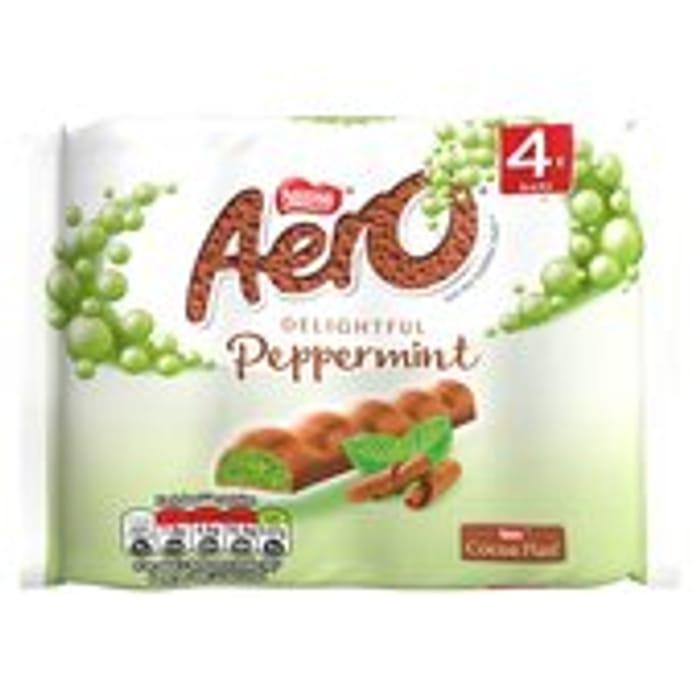 Aero Bubbly Peppermint Chocolate Chunky Bars 4pk