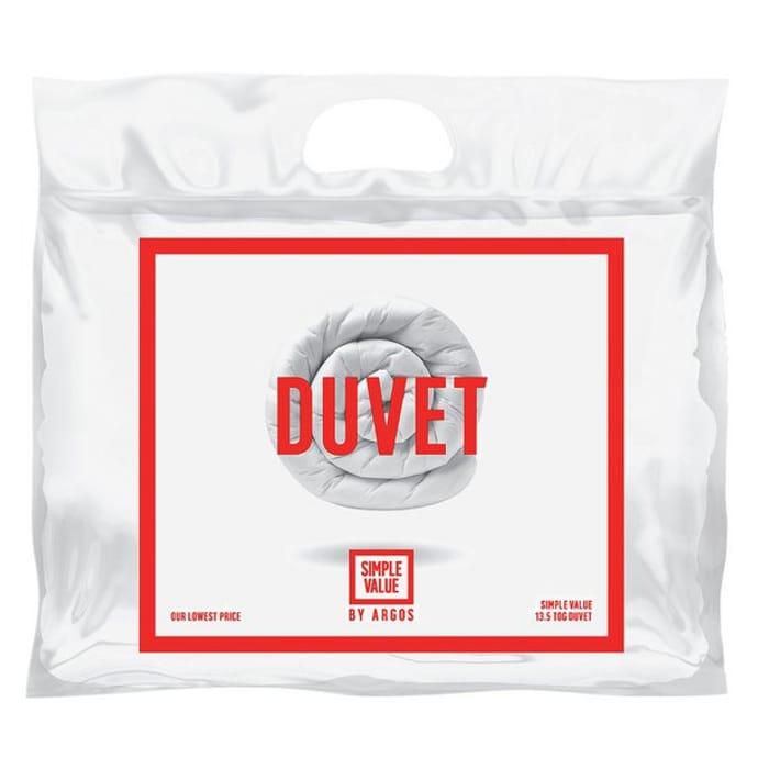 Argos Home Hollowfibre Winter 13.5 Tog Duvet - Double save 25%