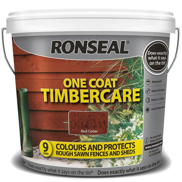 Ronseal One Coat Timbercare - Red Cedar 9L