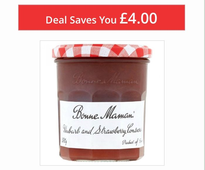 TODAY ONLY Bonne Maman Rhubarb and Strawberry Conserve 370g