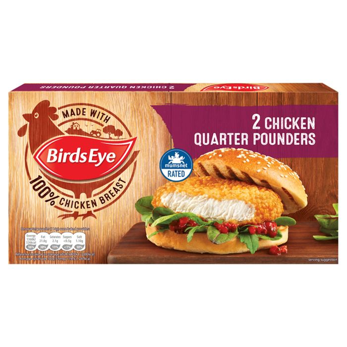 Cheap Birds Eye 2 Chicken Quarter Pounders 227g - Save £0.65