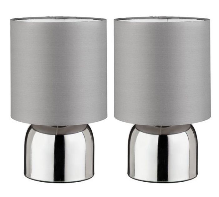 Argos Home Pair of Touch Table Lamps (Various Colours Available)