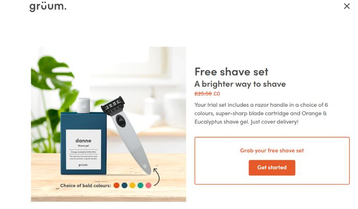 Free Shave Set a Brighter Way to Shave