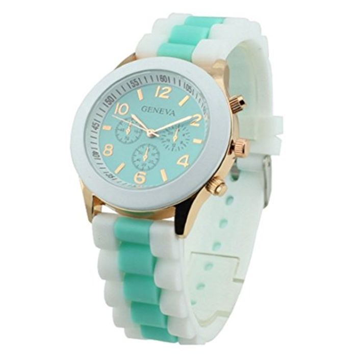 Mint Green/blue Silicone Watch Only £2.96 with Free Delivery