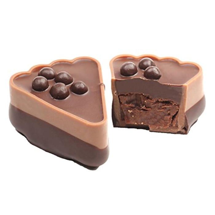 Dark Chocolate Ganache with Chocolate Pearls Slice, 1 Kg