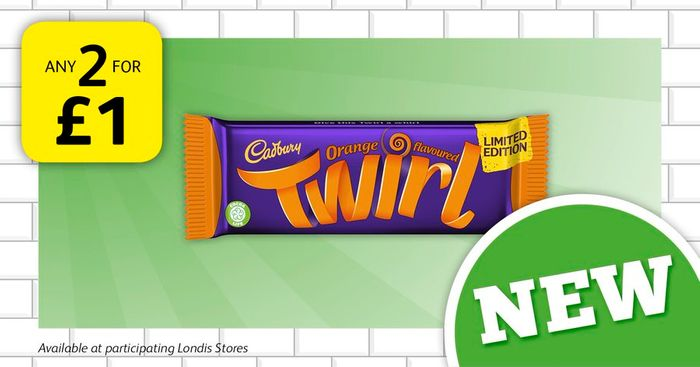 Grab Any 2 NEW! Orange Twirls for ONLY £1