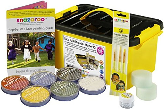 Snazaroo Face and Body Paint Mini Starter Kit, 14 Pieces, Assorted