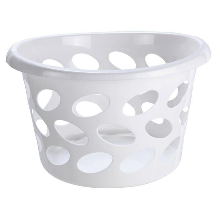 Argos Home 30 Litre round Laundry Basket - White