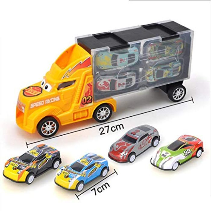 Transport Truck with 4 Toy Cars 70% off + Free Delivery