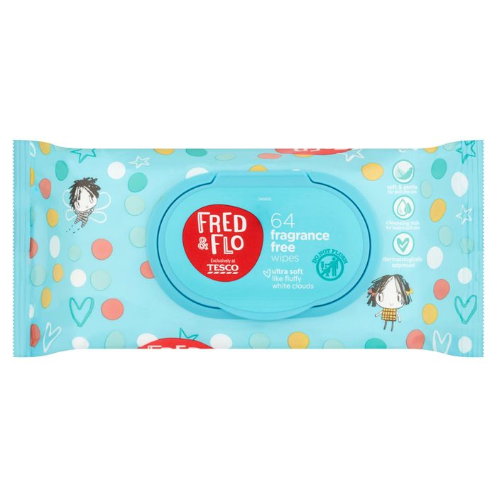 Fred & Flo 64 3 for £1.50 Baby Wipes