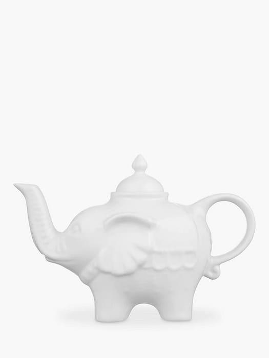BIA Elephant 3 Cup Teapot, White, 750ml