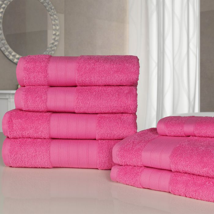 Cheap Dreamscene Towel Bale 7 Piece - Fuschia at Onlinehomeshop - Only £9.99!