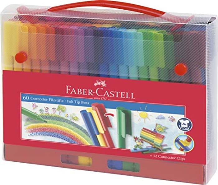 60 Faber-Castell Connector Felt Tip Pens