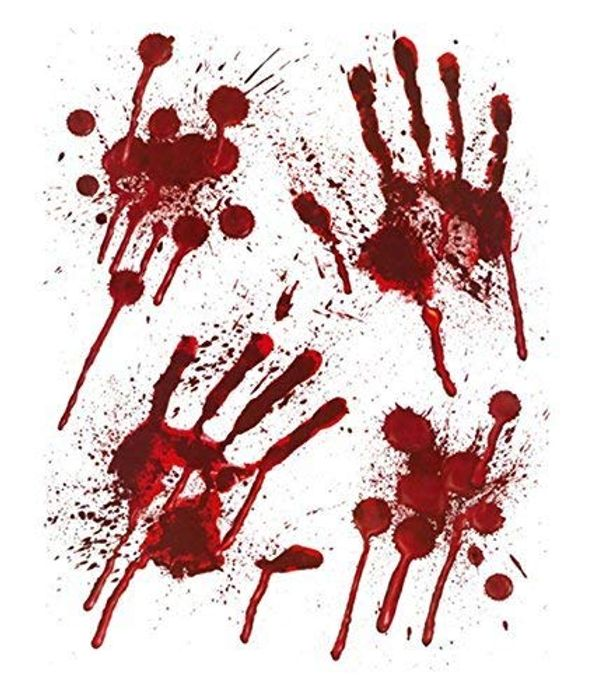 Halloween Bloody Hands Window Stickers - FREE DELIVERY