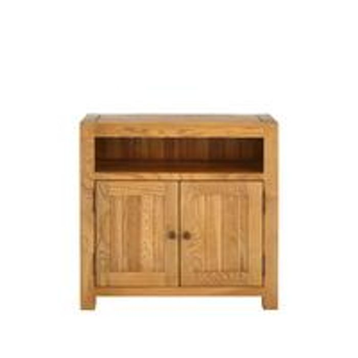 100% Solid Oak Ready Assembled Compact Sideboard
