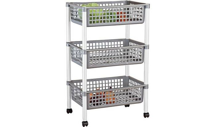 Tontarelli 3 Tier Vegetable Trolley - Save £2 Now Only £6