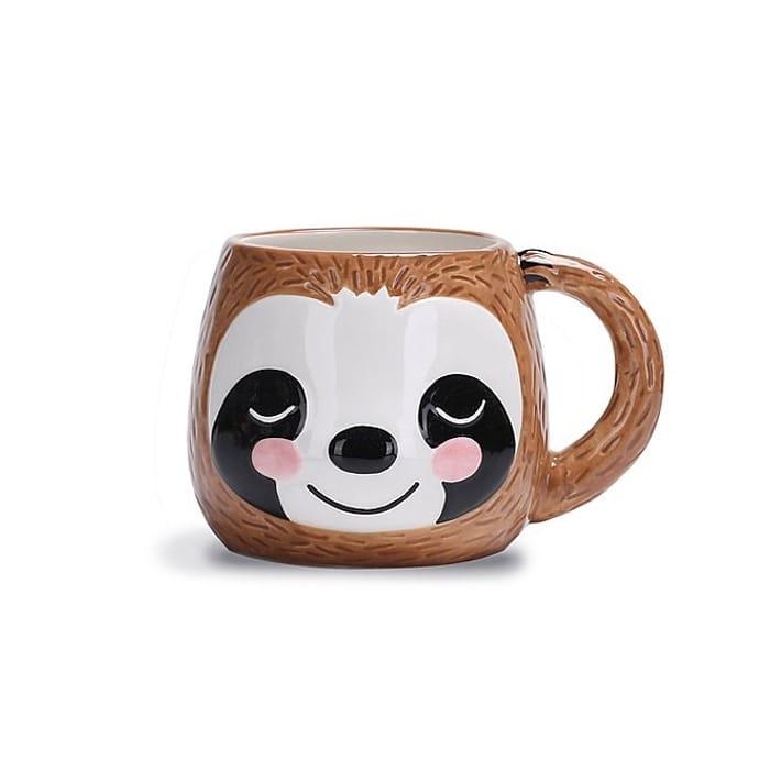 Brown Sloth Shaped Mug