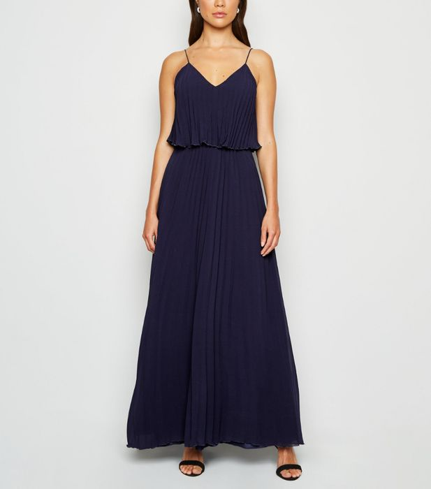 Maxi Deal - Navy Pleated Layered Dress on Sale From £34.99 to £12!