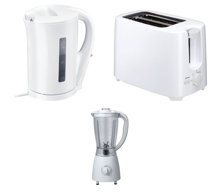 CURRYS ESS Blender, Jug Kettle & 2-Slice Toaster Bundle (White) - 22% Off!
