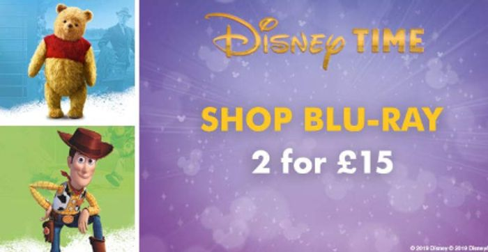 Cheap Disney Films! DVDS 2 for £12, Blu-Rays 2 for £15. Blu-Ray 3D 2 for £18!