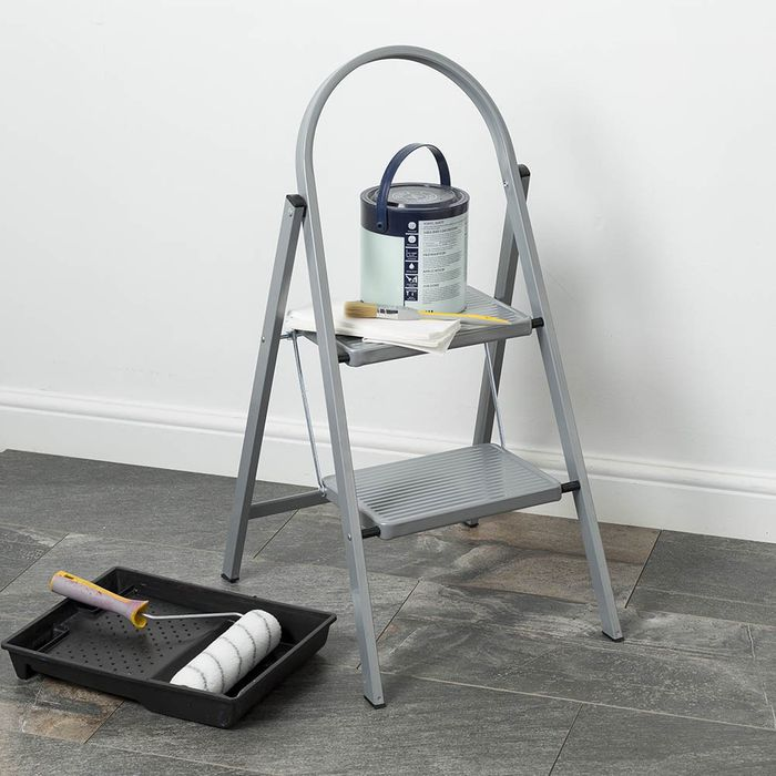 Abru 2-Tread Steel Stepladder (Grey) - 32% Off with Code