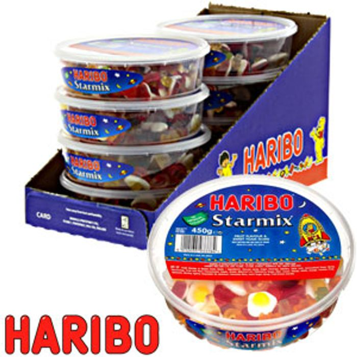 Haribo Star Mix (Case of 8 X 400g Tubs)