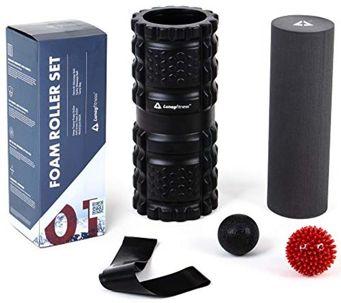 75% off LunagFitness 5in1 Foam Roller Set at Amazon