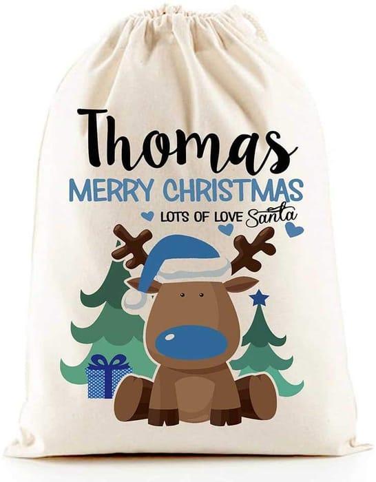 Personalised Santa Sacks - Boys & Girls Designs £6.99 Delivered