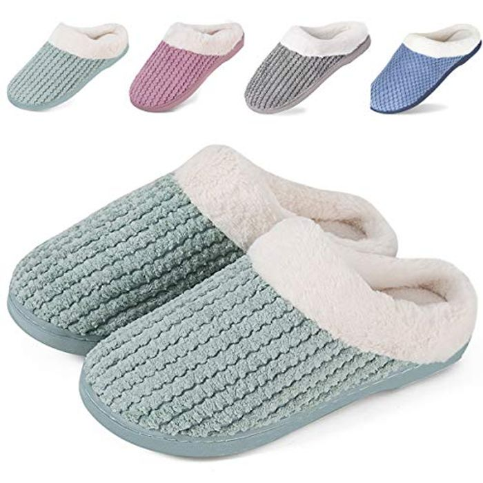 IceUnicorn Winter House Slippers Memory Foam