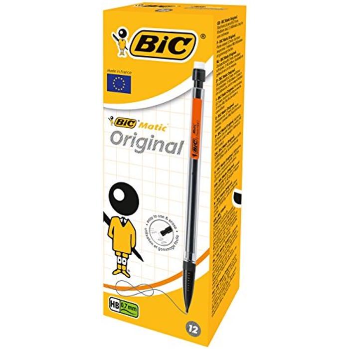 BIC Matic Original 0.7 Mm HB Mechanical Pencils - Assorted Body Colours