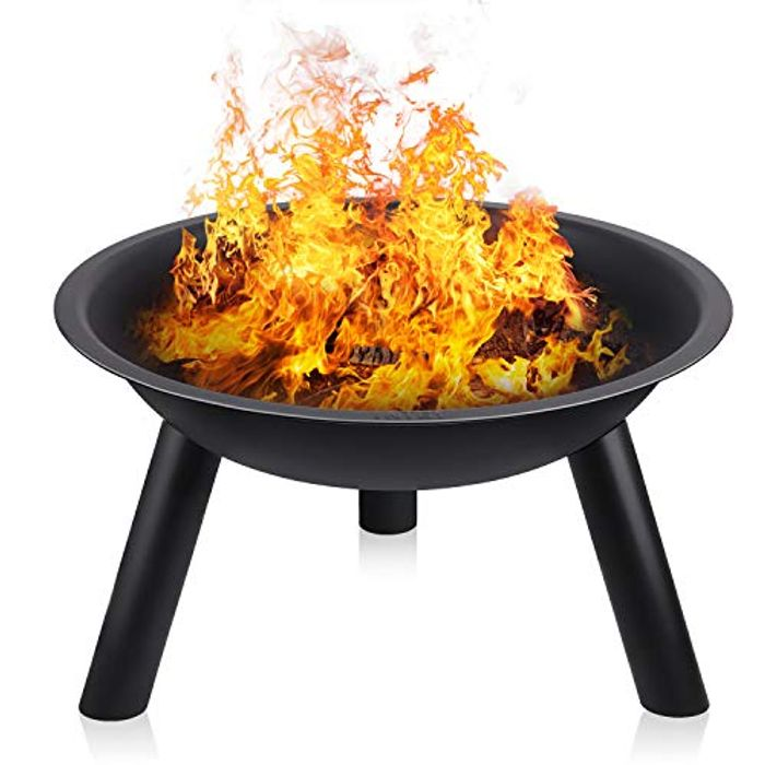 Large Black Iron Fire Pit for £19.99