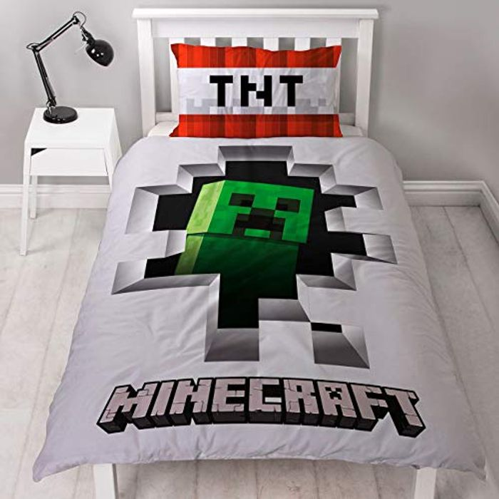 Best Ever Price! Minecraft Dynamite Single Duvet Cover Officially Licensed