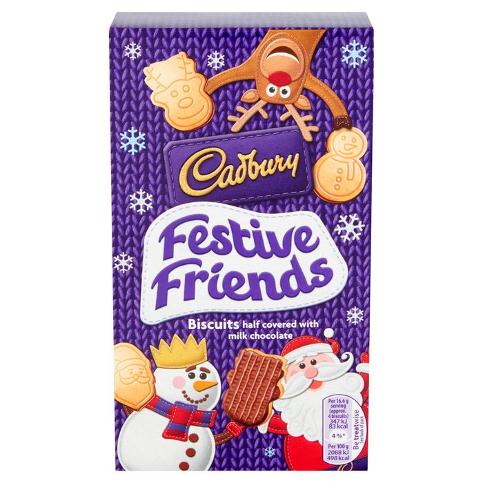 Cadbury Festive Friends Chocolate Biscuits 150G 2 for £1.50