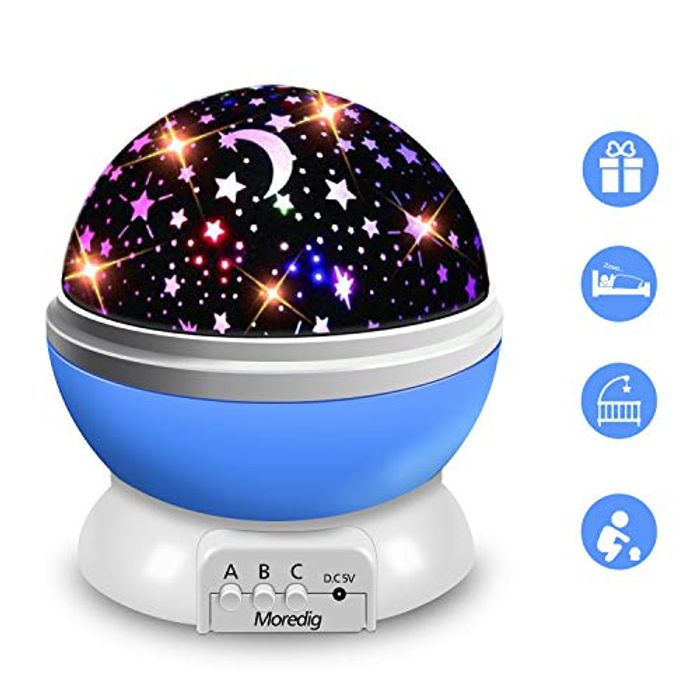 Moredig Star Projector, 360Rotation Star Night Light Lamps for Kids, 8